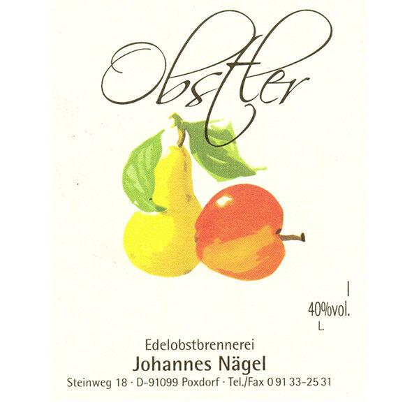 Obstler - Etikett