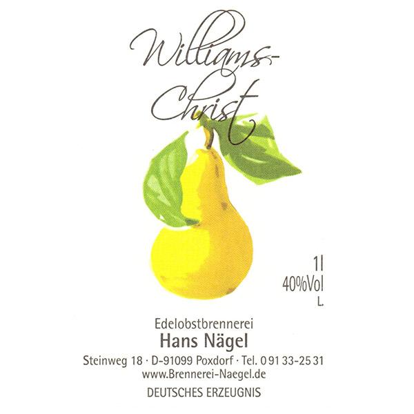 Williams-Christ - Etikett